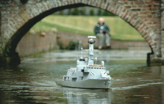 The finished model of HMS Norfolk