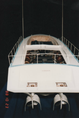 Aft of VacII showing the rudders and water pickups